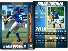 88 Customize Baseball Trading Card Template For Word Download by Baseball Trading Card Template For Word