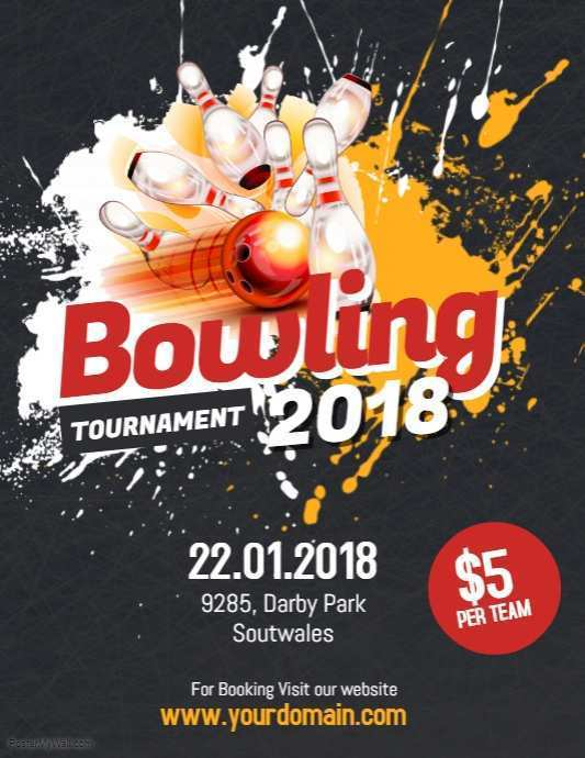 88 Customize Bowling Event Flyer Template Now by Bowling Event Flyer Template