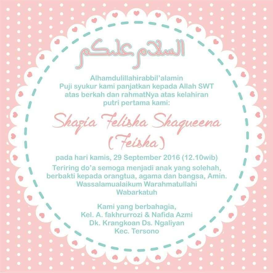 88 Customize Our Free Invitation Card Aqiqah Template Maker with Invitation Card Aqiqah Template