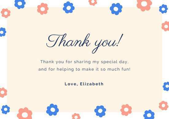 88 Format Bridal Shower Thank You Card Templates for Ms Word by Bridal Shower Thank You Card Templates