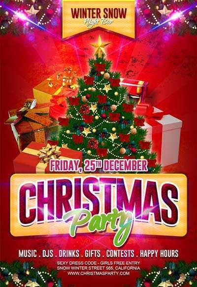 88 Format Christmas Party Flyer Templates Formating by Christmas Party Flyer Templates