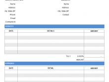88 Format Contractor Weekly Invoice Template in Word for Contractor Weekly Invoice Template