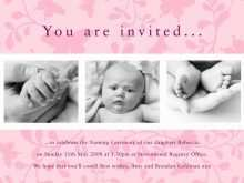 Invitation Card Format Naming Ceremony