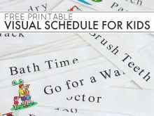 88 Format Visual Schedule Template Printable Formating by Visual Schedule Template Printable