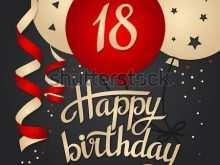 88 Free Printable 18Th Birthday Card Template Free in Word by 18Th Birthday Card Template Free