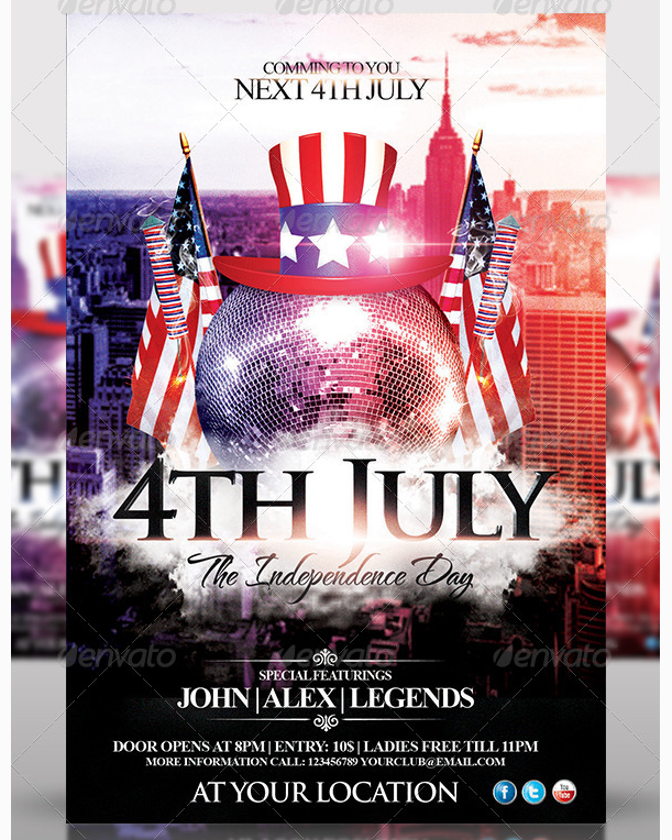 88 Free Printable 4Th Of July Party Flyer Templates Photo for 4Th Of July Party Flyer Templates