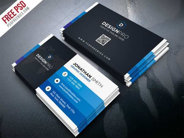 88 Printable Business Card Templates In Photoshop Layouts by Business Card Templates In Photoshop