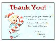 88 Printable Christmas Gift Thank You Card Template Download by Christmas Gift Thank You Card Template