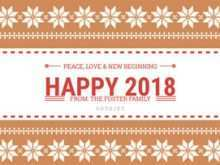 88 Report 2018 New Year Card Template Free for 2018 New Year Card Template Free