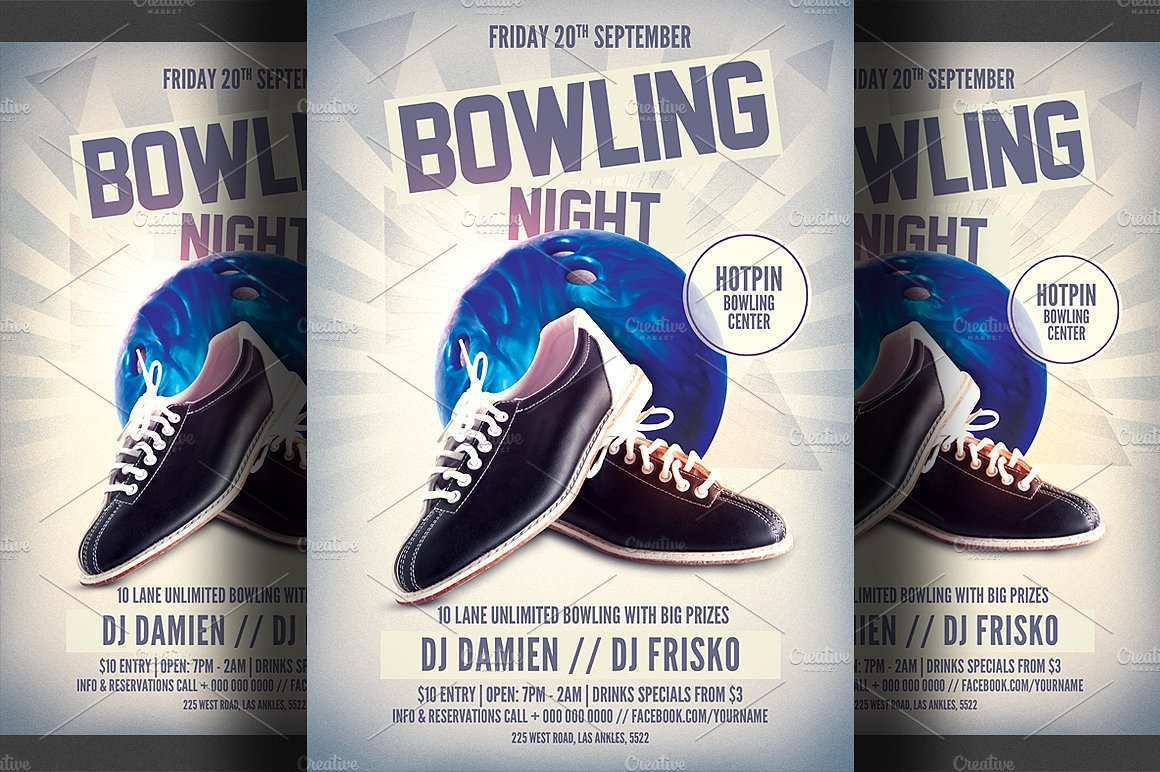 88 Standard Bowling Flyer Template Free Formating with Bowling Flyer Template Free