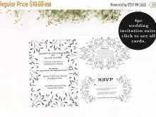 Rsvp Card Template 2 Per Page