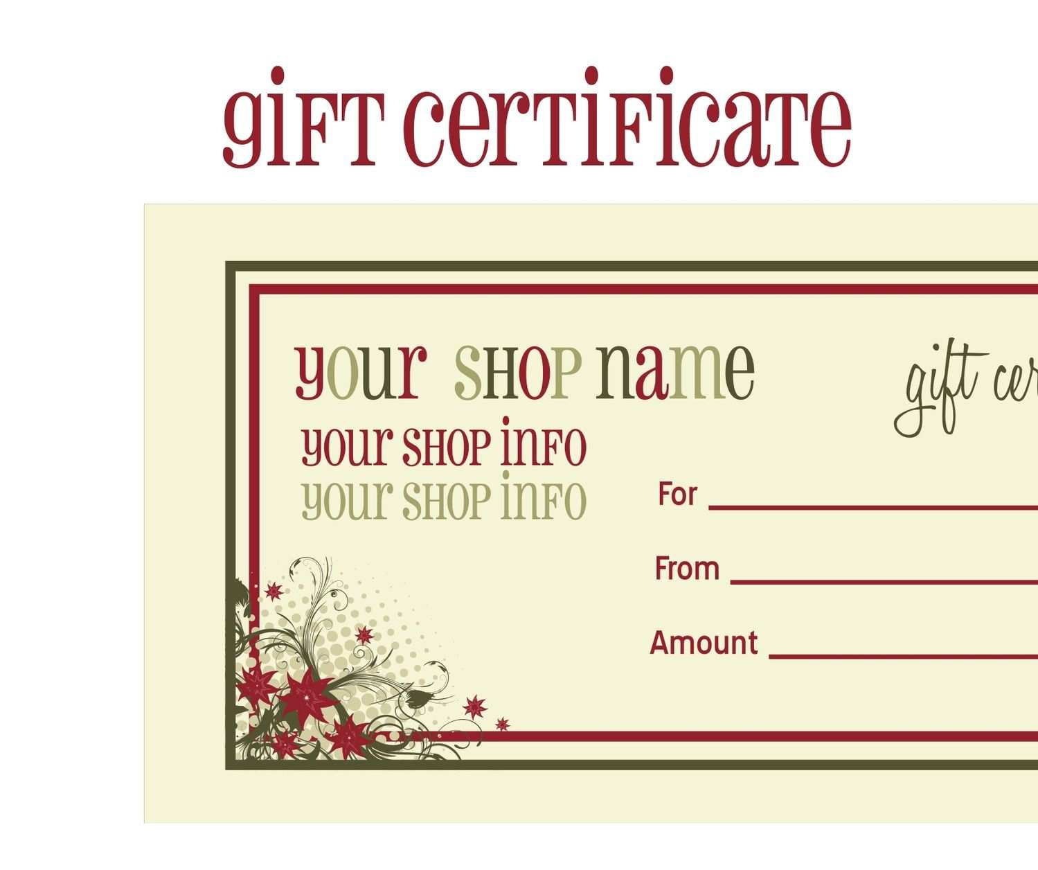 88 The Best Gift Card Template Uk in Word for Gift Card Template Uk
