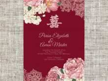 88 Visiting Wedding Invitation Card Template Red in Photoshop for Wedding Invitation Card Template Red