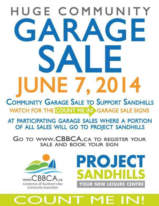 garage sale flyer template free