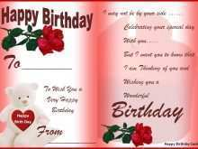 89 Create Birthday Card Template Excel for Ms Word by Birthday Card Template Excel