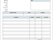 89 Create Car Repair Invoice Template Pdf Formating for Car Repair Invoice Template Pdf