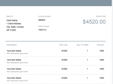 89 Customize A Invoice Template Formating by A Invoice Template