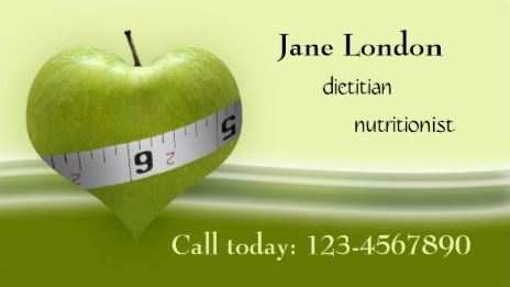 89 Customize Our Free Business Card Template Dietitian Download by Business Card Template Dietitian