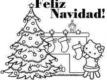 Christmas Card Template In Spanish