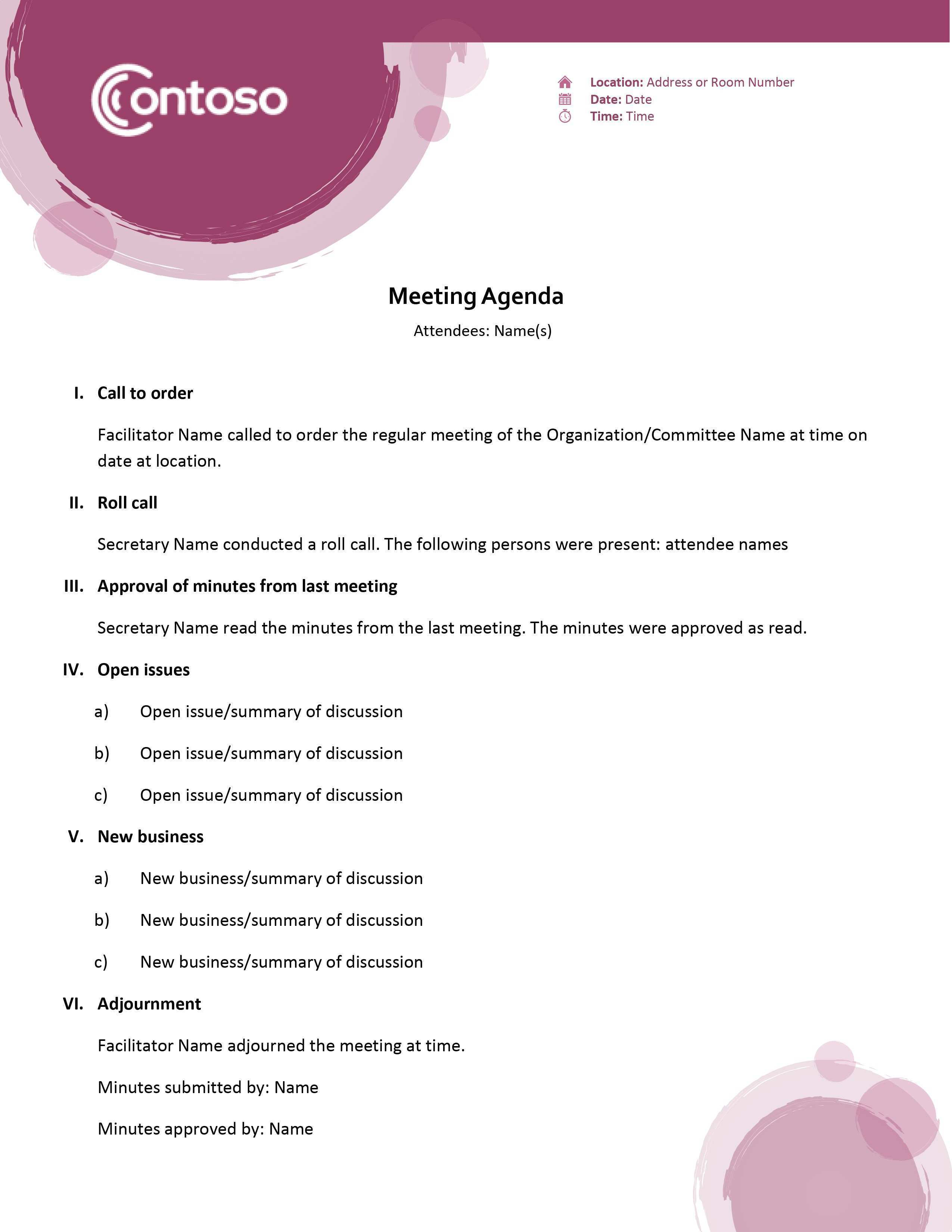 89 Format Conference Call Agenda Template Word Layouts for Conference Call Agenda Template Word