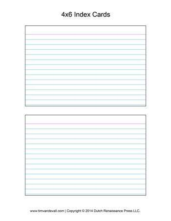 89 Free 4X6 Index Card Template Pages in Word for 4X6 Index Card Template Pages