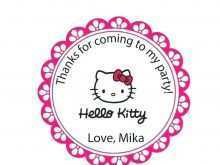 Free Hello Kitty Thank You Card Template