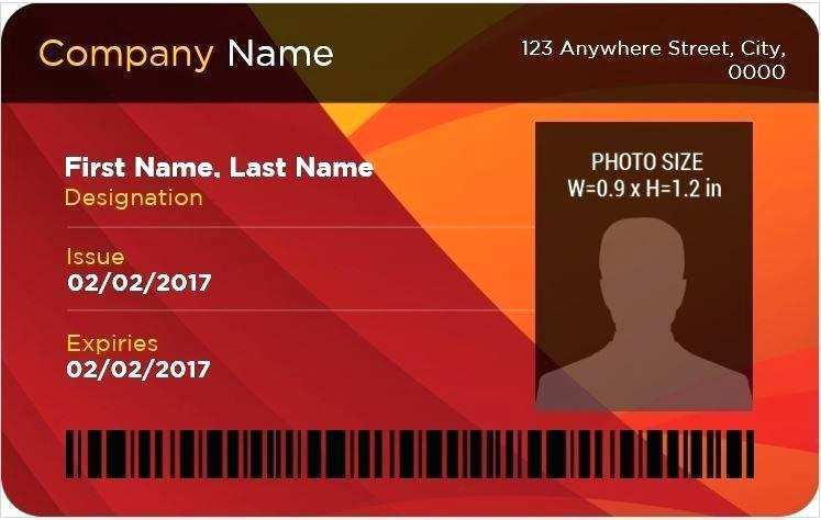 id card template word doc  cards design templates