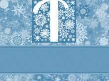89 Online Christmas Card Template Blue in Word by Christmas Card Template Blue