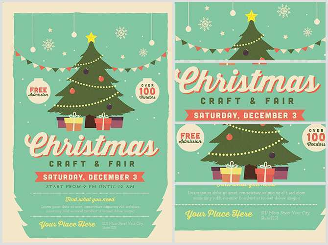 89 Report Christmas Fair Flyer Template Layouts with Christmas Fair Flyer Template