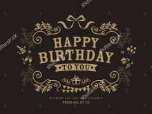 89 Standard Happy Birthday Card Templates Free Formating for Happy Birthday Card Templates Free