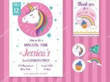 89 Standard Invitation Card Template Unicorn Download with Invitation Card Template Unicorn