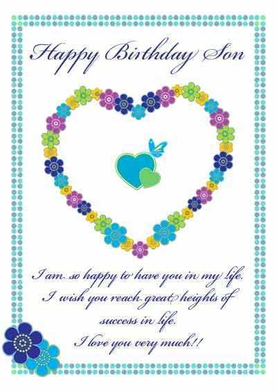89 The Best Birthday Card Templates For Son Layouts for Birthday Card Templates For Son