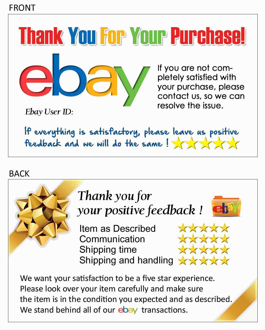 90 Best Thank You Card Template Ebay In Photoshop By Thank You Card Template Ebay Cards Design Templates