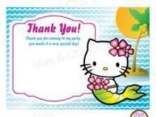 Thank You Card Template Hello Kitty