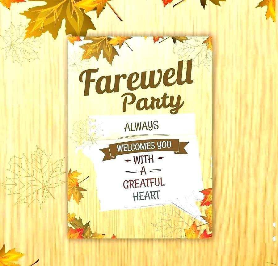 90 Blank Free Farewell Invitation Card Templates Templates by Free Farewell Invitation Card Templates