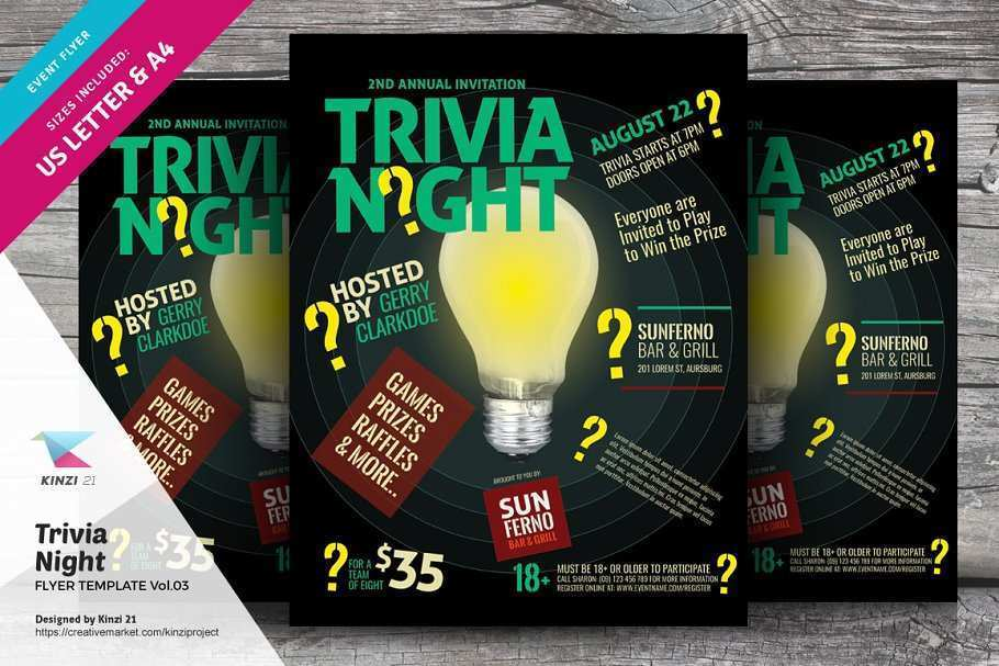 90 Create Trivia Night Flyer Template Download with Trivia Night Flyer Template