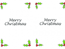 90 Creating Christmas Card Template Tes Now for Christmas Card Template Tes