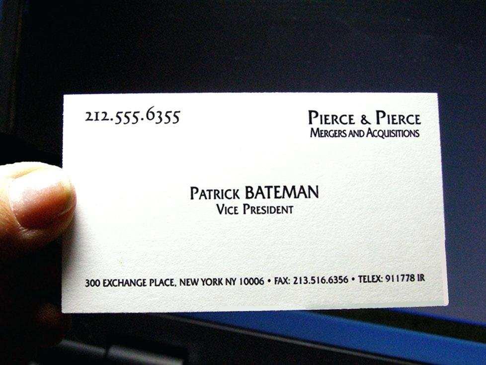 90 Creating Patrick Bateman Business Card Template Word Templates By Patrick Bateman Business Card Template Word Cards Design Templates