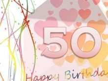 90 Creative 50Th Birthday Card Template Free in Photoshop by 50Th Birthday Card Template Free