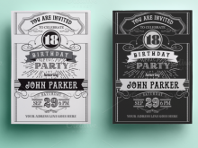 90 Creative Birthday Card Vintage Template with Birthday Card Vintage Template