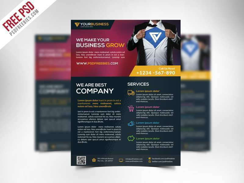 90 Customize Free Business Flyer Template Psd Download for Free Business Flyer Template Psd