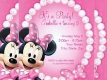90 Customize Our Free Birthday Card Template Minnie Mouse Maker for Birthday Card Template Minnie Mouse