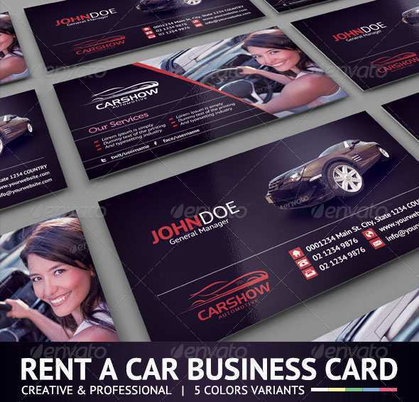 Car Business Card Template Free