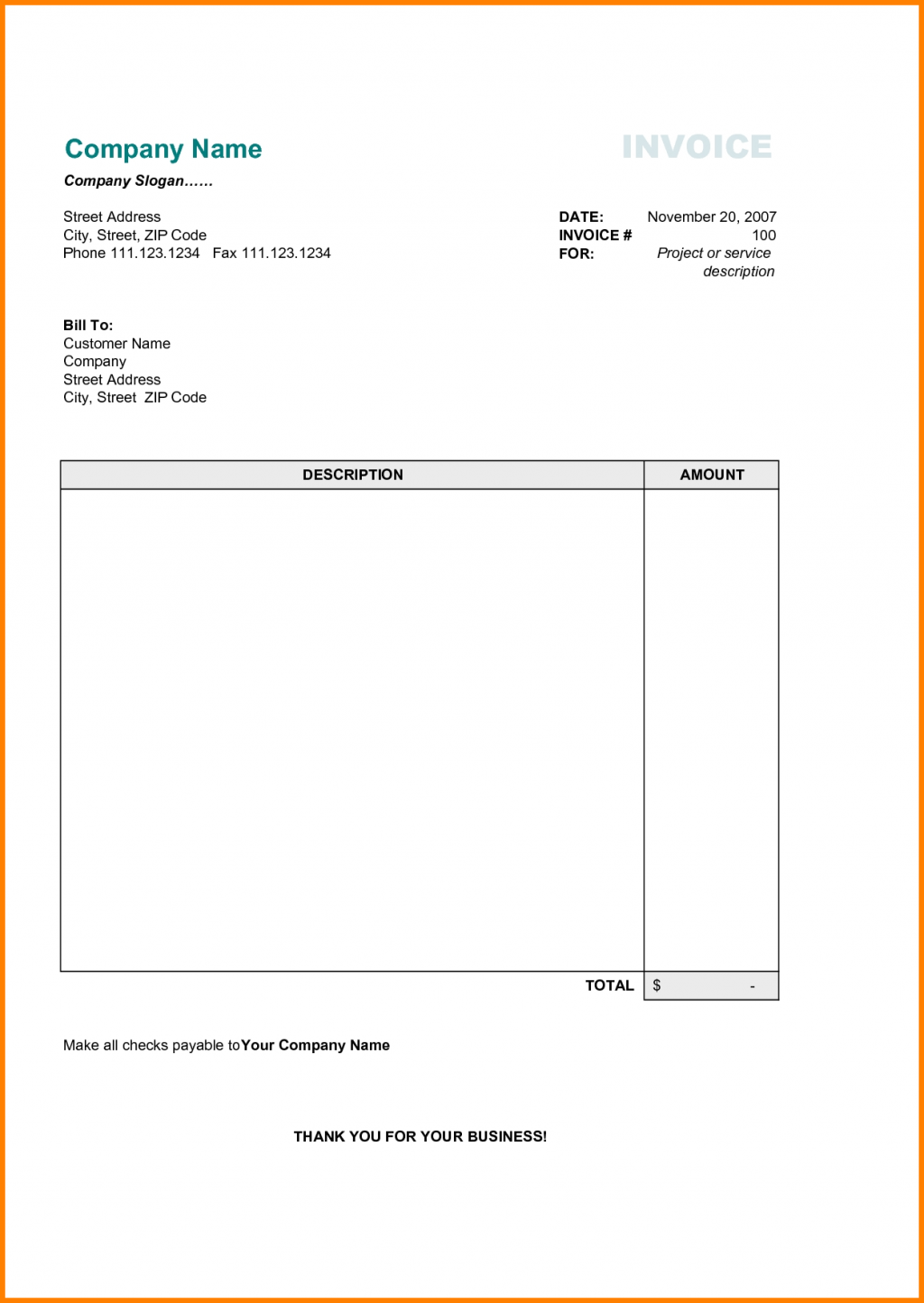90 Customize Personal Invoice Template Word Uk In Word With Personal Invoice Template Word Uk Cards Design Templates
