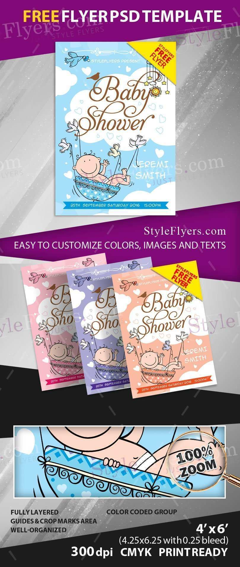 90 Format Baby Shower Flyer Templates Free Formating with Baby Shower Flyer Templates Free
