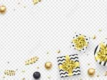 90 Format Christmas Card Template Gold for Ms Word by Christmas Card Template Gold