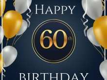 90 Free Printable 60 Birthday Card Template Layouts for 60 Birthday Card Template
