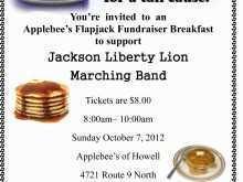 Applebee Flapjack Fundraiser Flyer Template