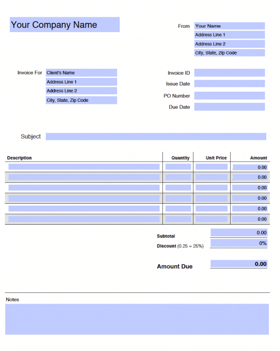 90 How To Create Blank Invoice Template To Edit in Photoshop for Blank Invoice Template To Edit