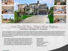 Sample Real Estate Flyer Templates